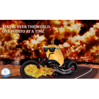 Motorcycle Potato Poster